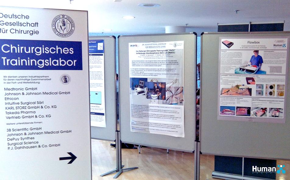 Posterausstellung im Chirurgischen Trainingslabor