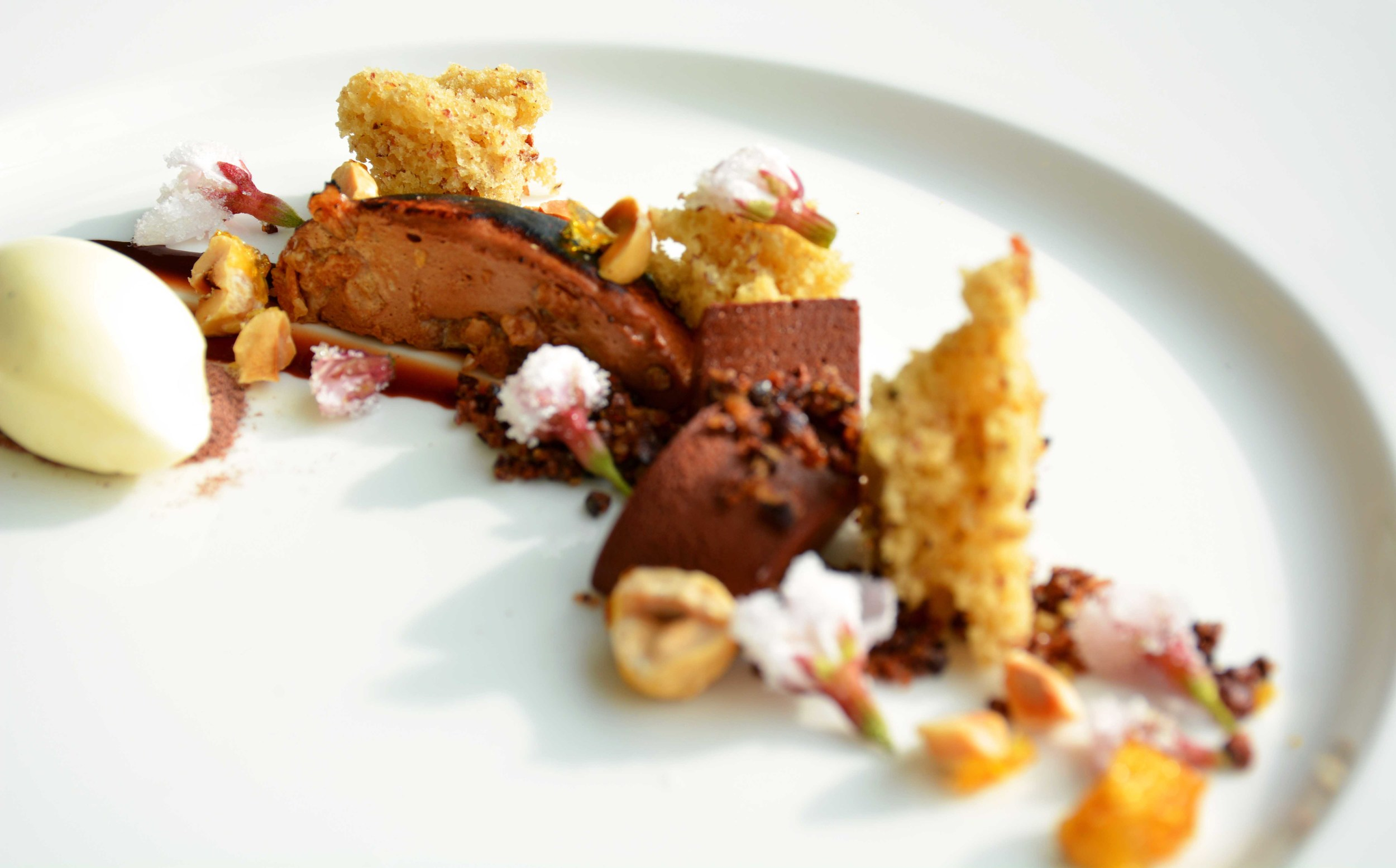 Love the combination of chocolate and hazelnuts.