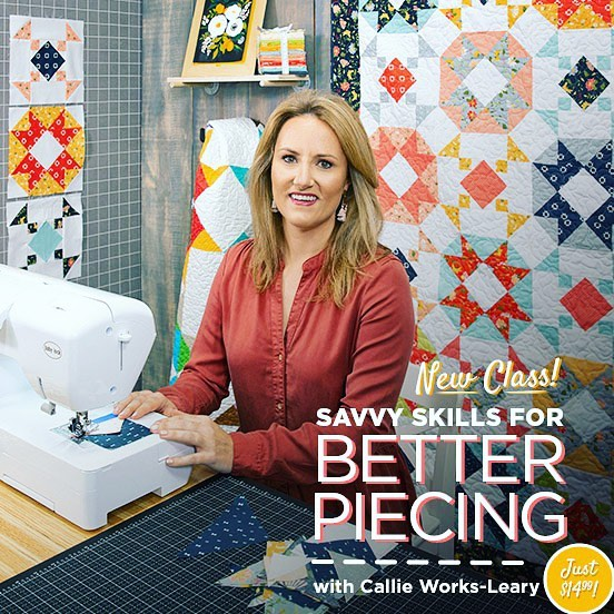 So proud to announce my new class with @missouriquiltco!!!! Savvy Skills for Better Piecing is the perfect way to take your skills to the next level while also learning how to make my pattern Weekend at the Lake! Head over to the CityCraft Facebook page to get a direct link and watch the trailer. I'll be posting more info on the blog later today. #quilt ❤️