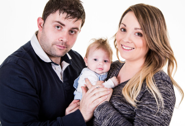 The Walker's - Little Teddy had his first shoot at our home studio where we can take photo's of even the youngest members of your family.
