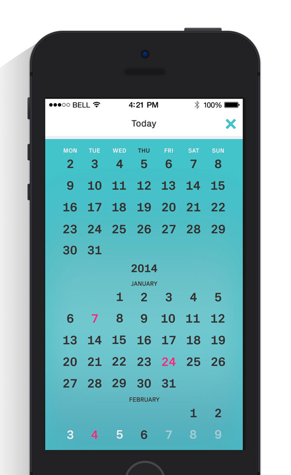 They will also be able to go back a few months and have a more detailed view of their calendar.