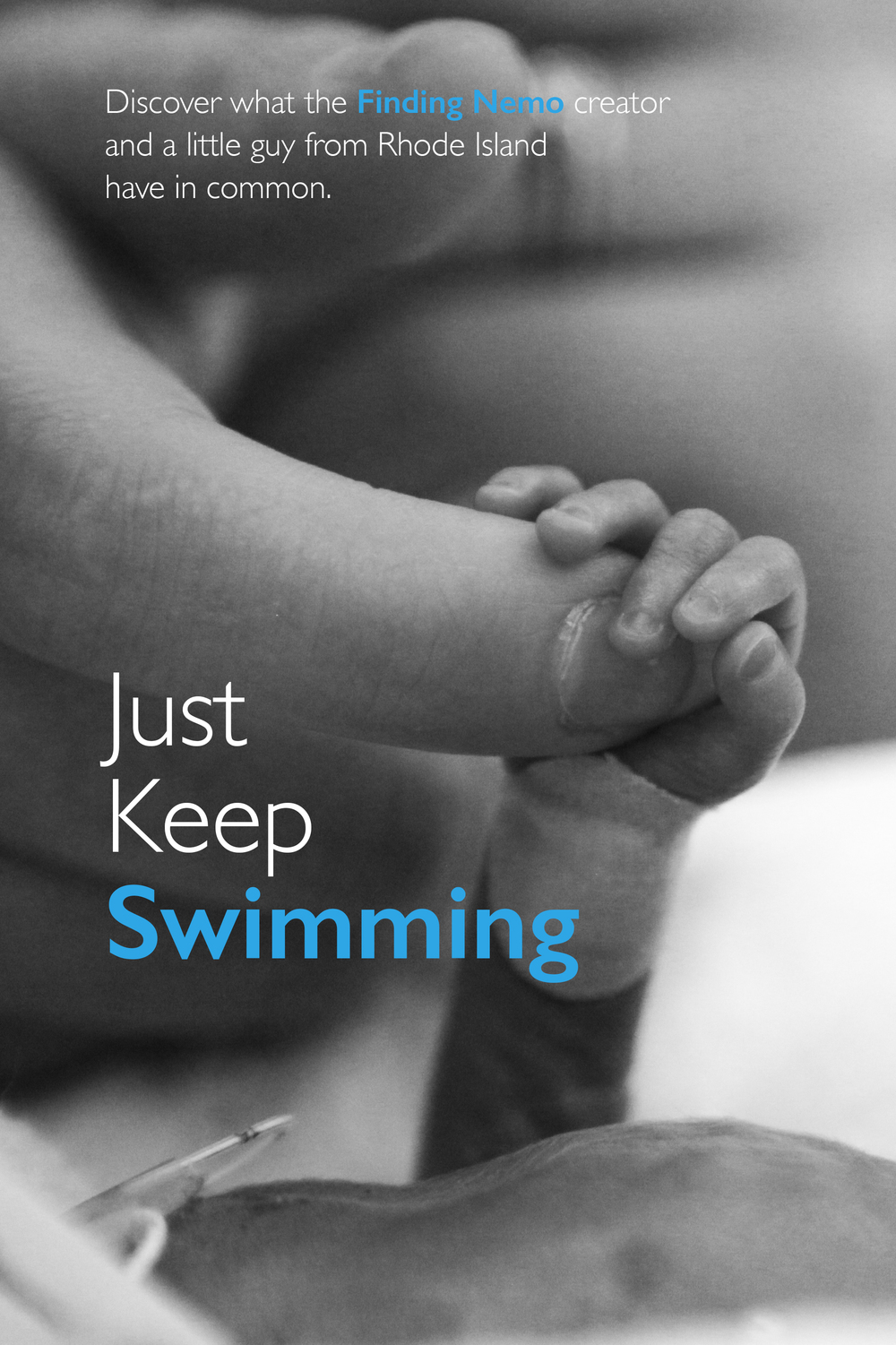 Just Keep Swimming BW-Contrast poster.jpg
