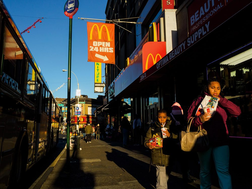 New York City's Bronx borough, home to America's poorest congressional district, is crammed with fast-food restaurants but has few grocery stores, earning it a reputation as a food desert.