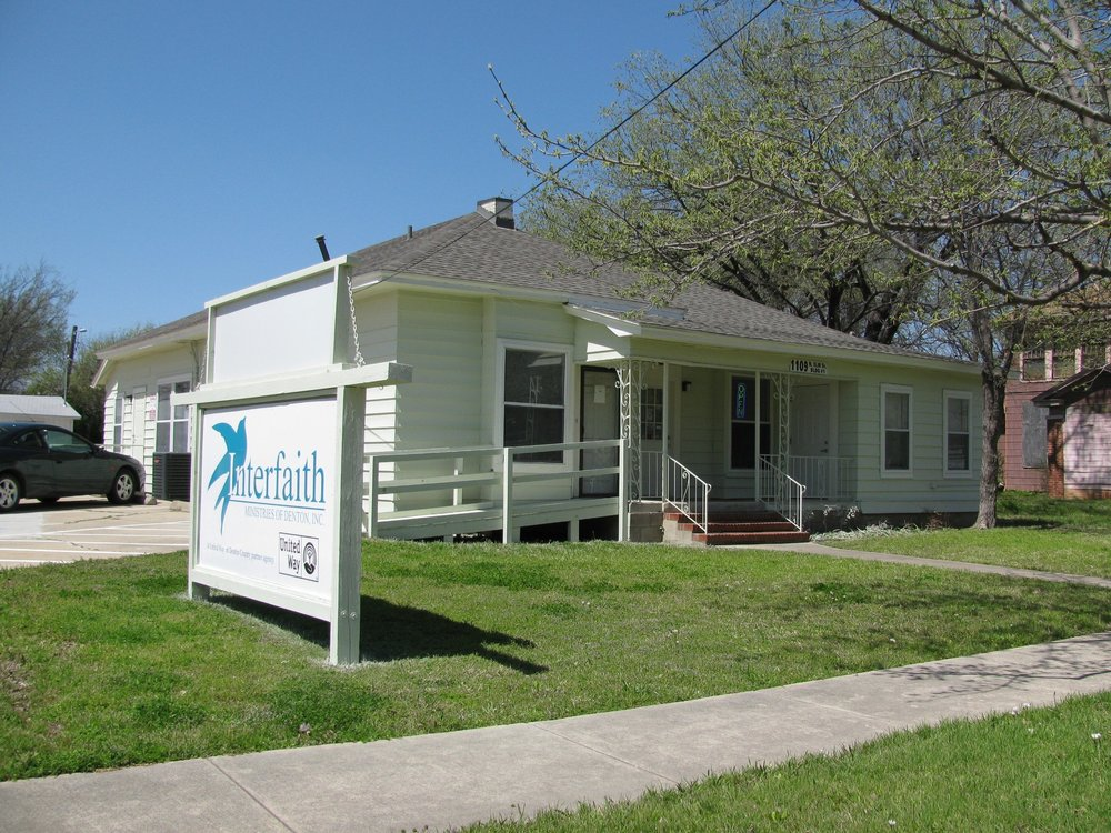 - In 2008, we moved to our little house at 1109 N. Elm  - a space big enough to serve the growing amount of people we see today.