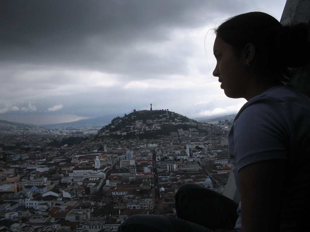This is me at 18 hanging from a church steeple in Quito, Ecuador. I worked two jobs to get out of my small town life and really didn't want to go to college.