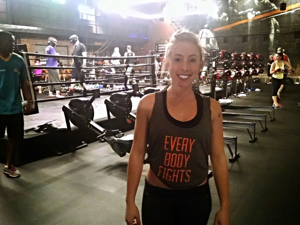 Fight Trainer, Cassie Brown, inside The Club.