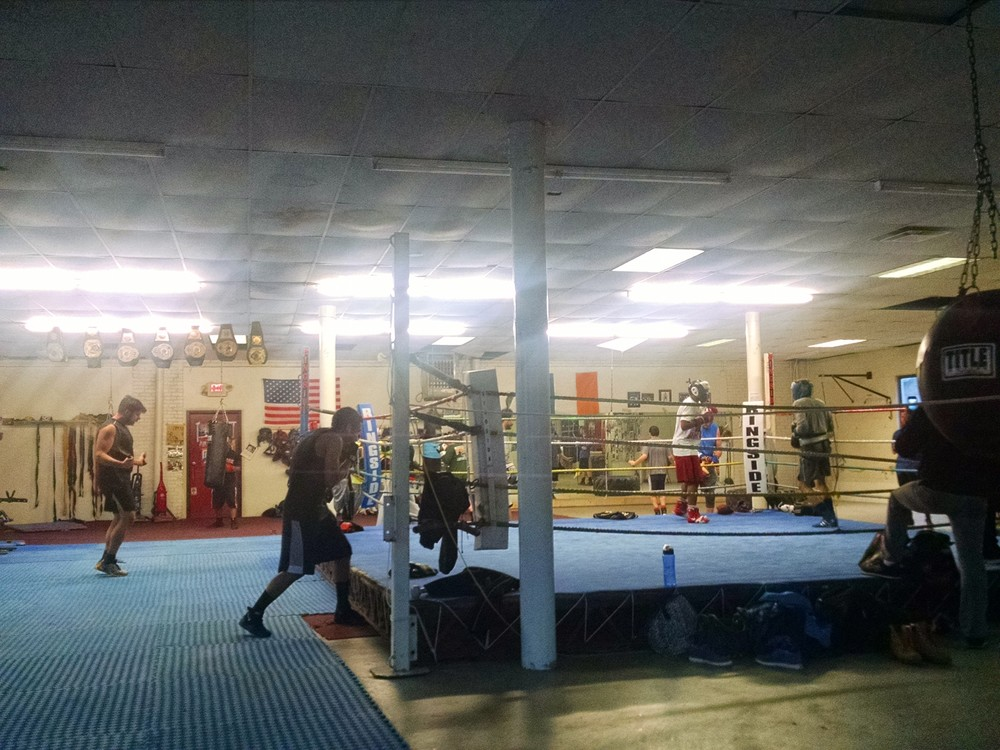 Inside the Grealish Boxing Club.