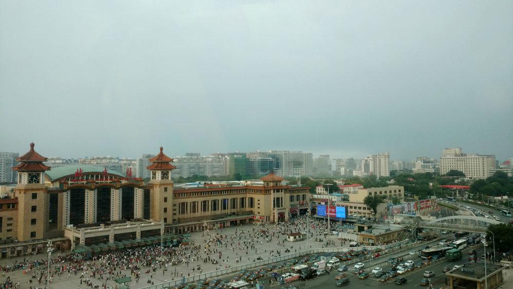 The Beijing Railway Station.