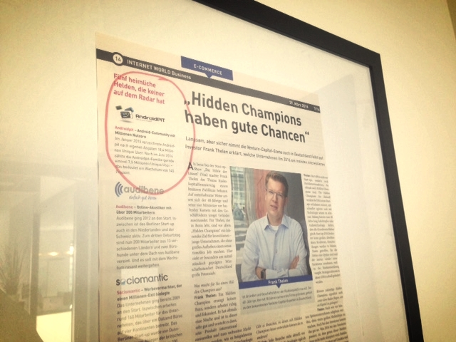 "We're a ""hidden champion"" !"
