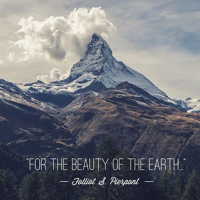 """Lord of All, to Thee we raise. This our hymn of grateful praise."" Happy Earth Day! 🌎"