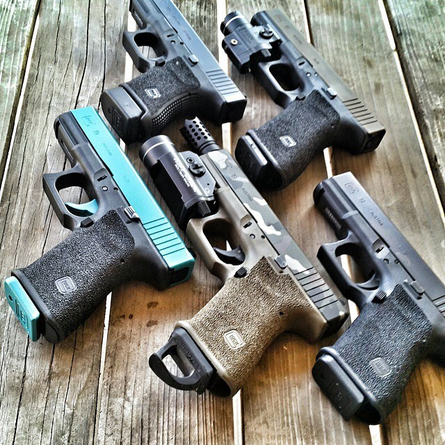 glockfanatics: Picking glocks should be like picking an outfit for the day. Which one to use… (posted by @tgsarms) #glockfanatics #glockporn #glockmods #glockperfection