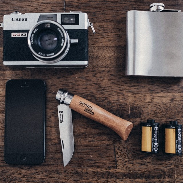 lifeofawhiskeydrinker :     essentials   #vsco #filmisnotdead #opinel