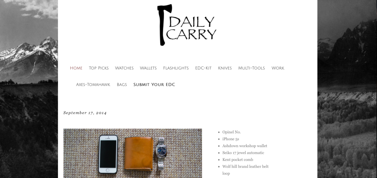 Check out the new site and upload your EDC, or just find great items from around the web. http://www.dailycarry.co