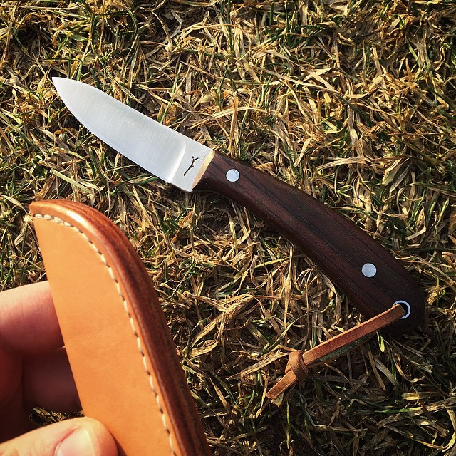 woodnsteel :     Veg. tan edge detail.  A little bit of work makes a huge difference!  #Woodnsteel #handmade #knife #knives #leather #sheath #edc #outdoors #vsco #vscocam #menswear #mens #hunting #leatherwork