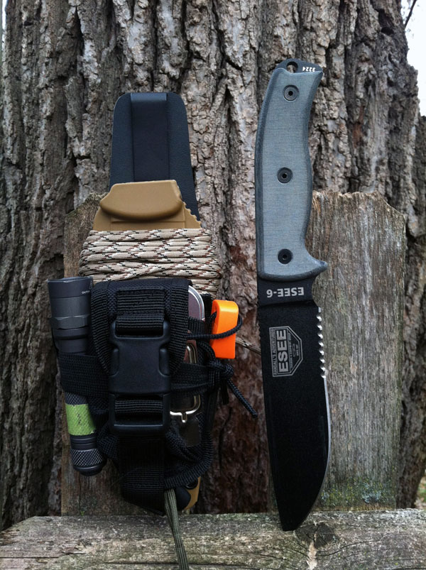 military-life :       Buy ESEE 6P-B Fixed Blade Knife