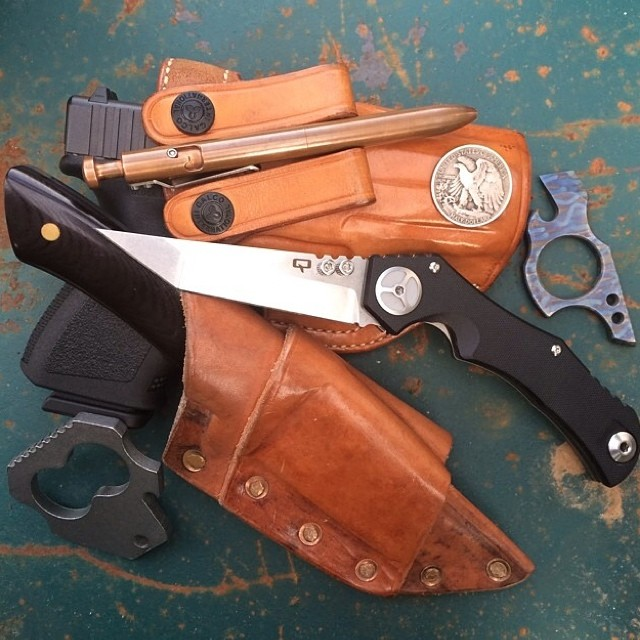 karaskustoms :     The Bolt   📷 @mmdriller90   #repost #everydaycarry #leather #thebolt #americanmade (at KarasKustoms)