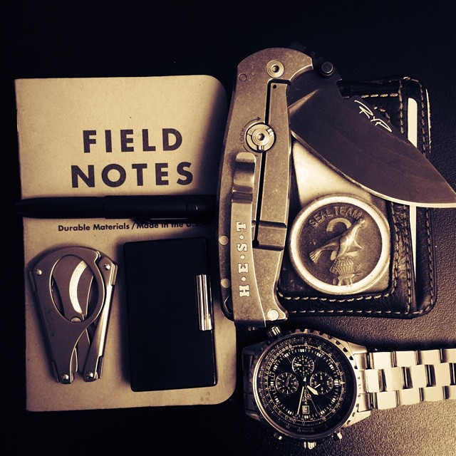 "andrewjmac: ""The Wild still lingered in him and the Wolf in him merely slept"" —— #edc #fieldnotes #usualsuspectnetwork #challengecoin #useyourshit #byanymeansnecessary #countryboy #dpxgear #everydaycarry #usnstagram #irishguy #orderoftheblackshamrock"