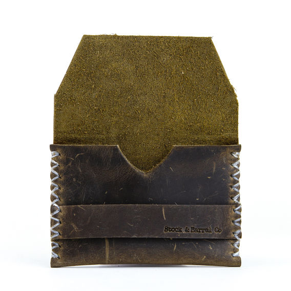 LEATHER CARD HOLDER     BY STOCK AND BARREL CO.        http://www.dailycarry.co/wallets