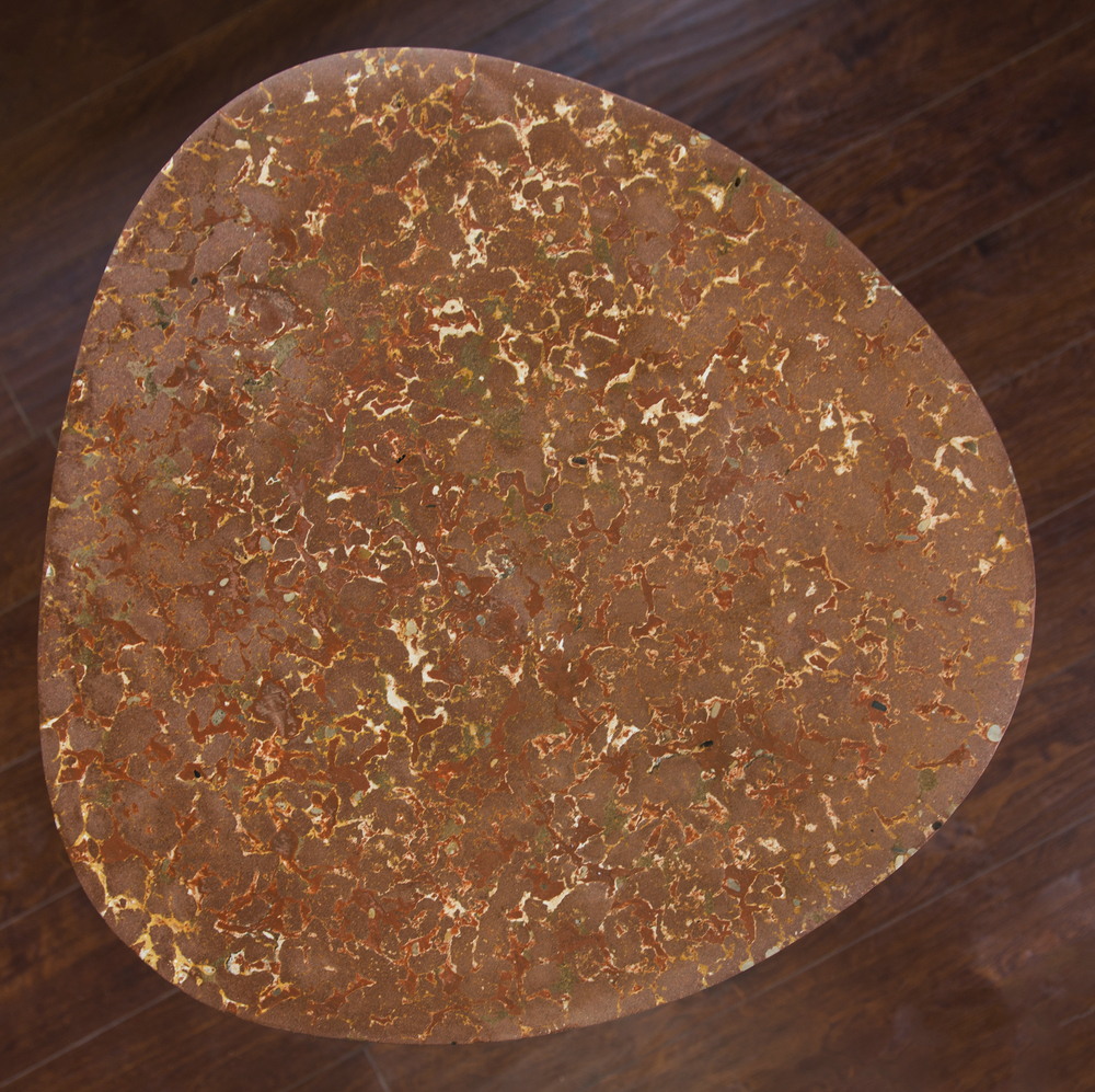 1 - 24 dia. Brick Red GFRC Guitar Pick Tabletop.jpg