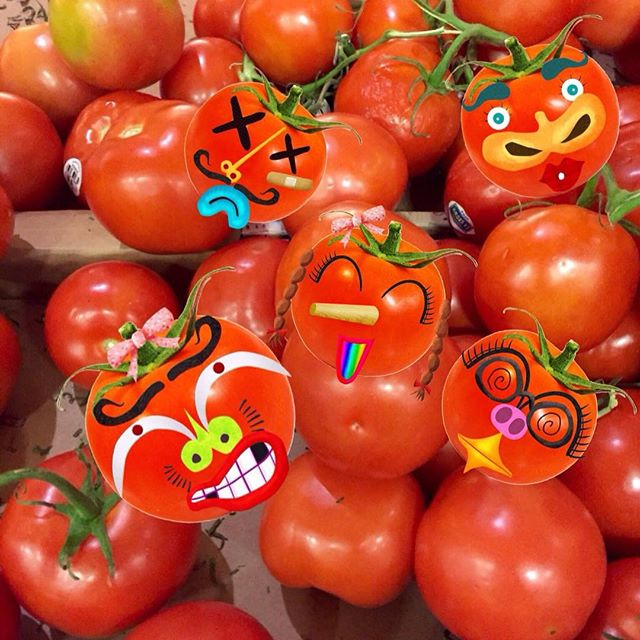 We went to the market to get some #tomatoes and look what I found..... #kidsfun #learningthroughplay #learnthroughplay #funforkids #funnyfaces #funny #stickerbook #stickers #creativity #dreamingdaddy #learningisfun #app #piccollage #playwithphoto #fruitsandveggies #familyfun #makefaces #mommyandme #preschool #toddler