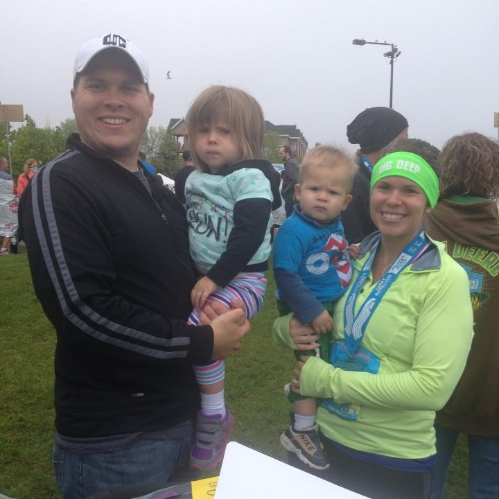 My family after I ran the half marathon! I swear my kids are much happier than they appear in pictures!