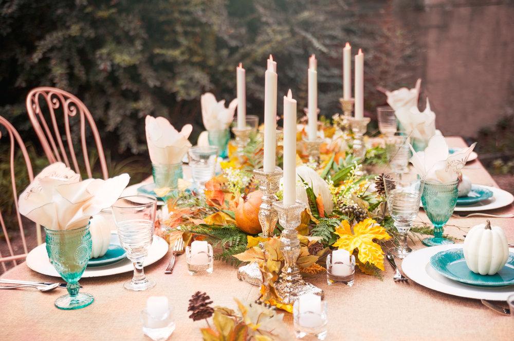 OBJ Designs Fall Decor Tablescape for  Love IT! Evv Magazine