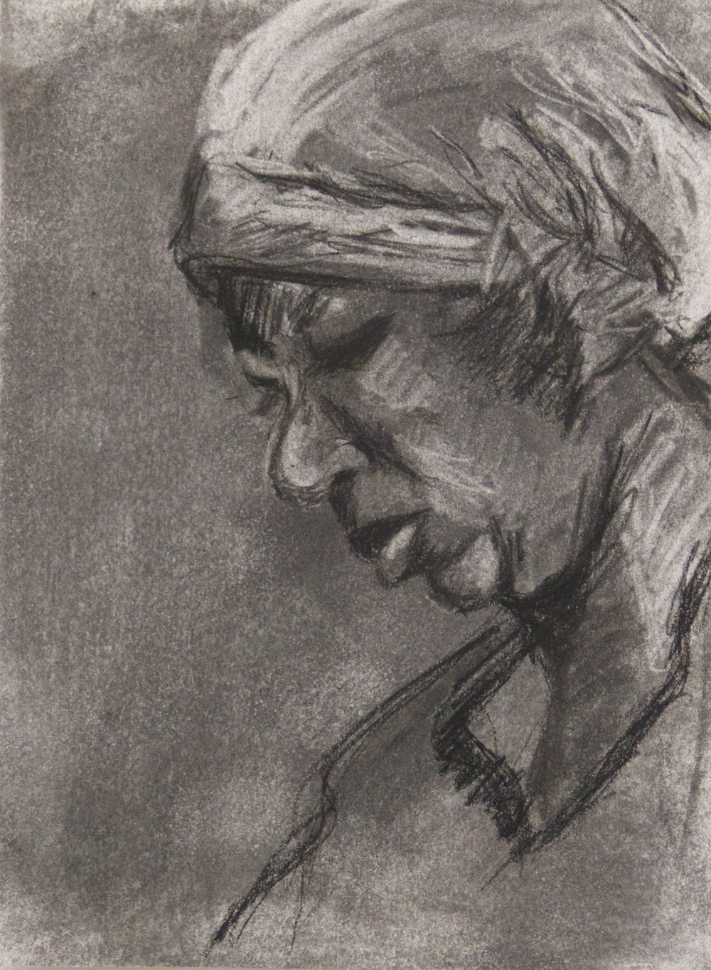 """9"""" x 12""""  charcoal on paper"""