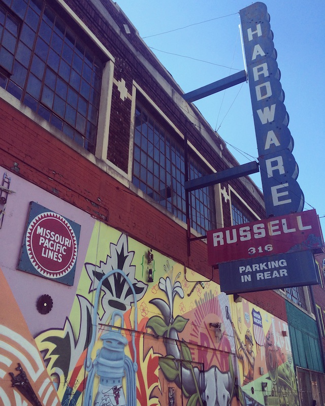 Walk (and brunch, below) along the South Main Arts District:  ✔