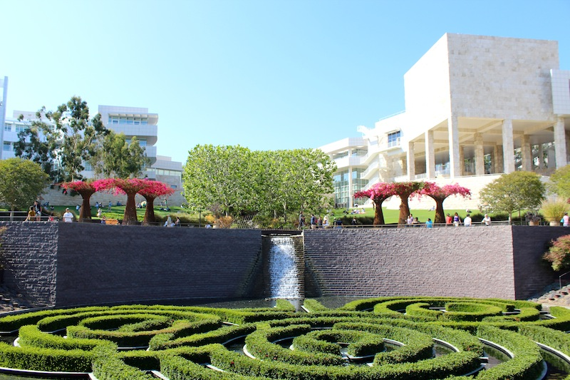 Gorgeous Central Garden at The Getty. I took this photo because I thought my nephew would like how the hedges look like Mickey Mouse.