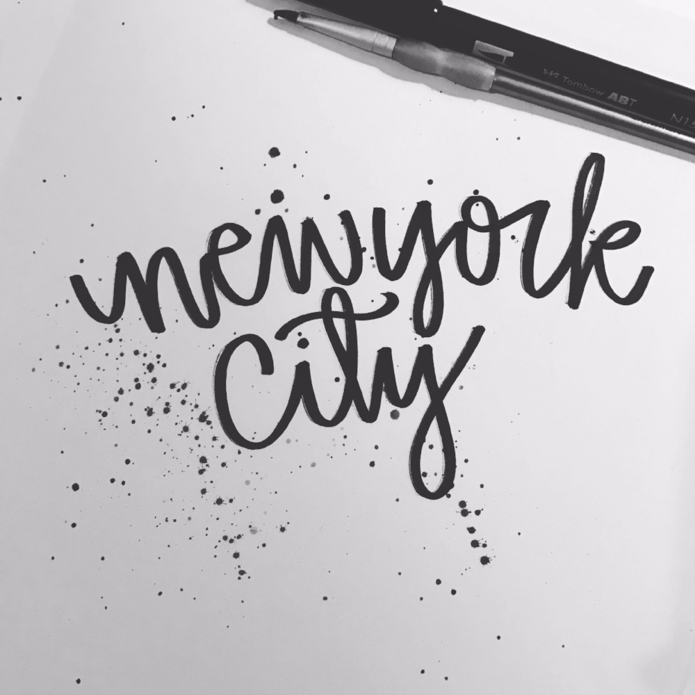Practicing with my Tombow before the trip.