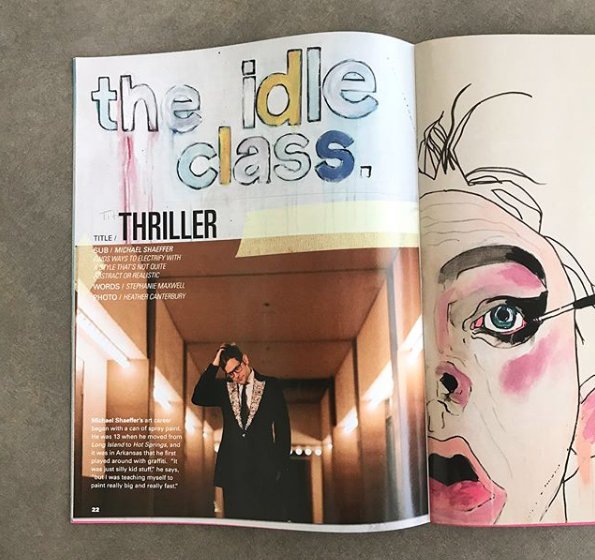 The Idle Class - Back in the summer when I was still freelancing I had the opportunity to interview artist Michael Shaeffer for a story for The Idle Class's Design Issue. So pleased to see it in print this fall! Michael's work is incredible—check him out on Instagram. Many thanks to editor Kody Ford for having me write for this gem of a publication.