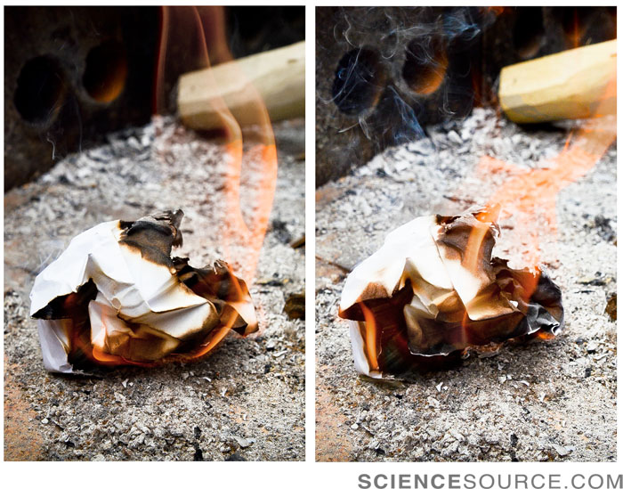 Paper Burning Sequence