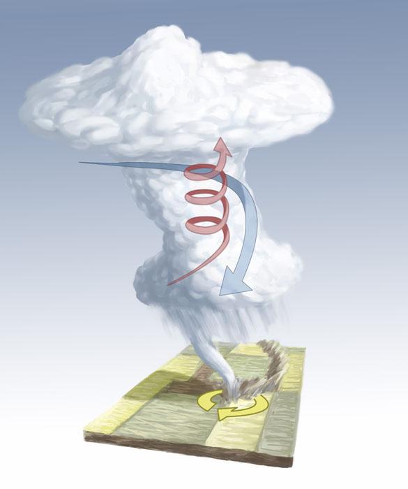 Formation of a Tornado