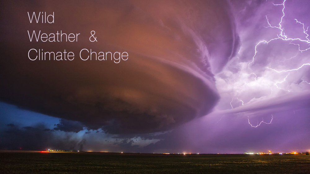 Lighting and supercell storm. Burlington, Colorado, USA.