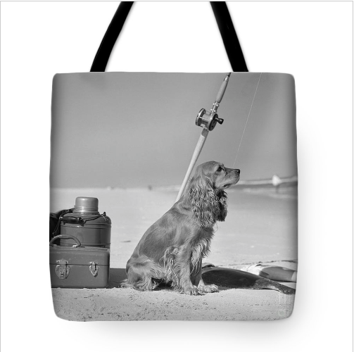 Retro tote bags and t-shirts