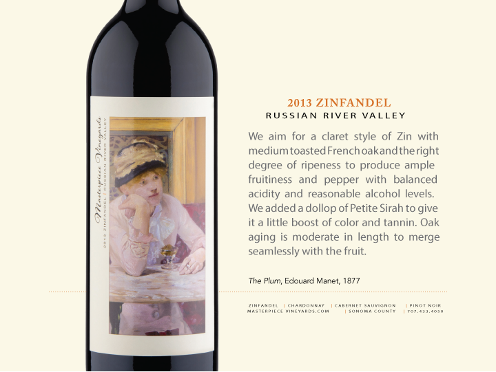 2013 MASTERPIECE VINEYARDS RUSSIAN RIVER VALLEY ZINFANDEL