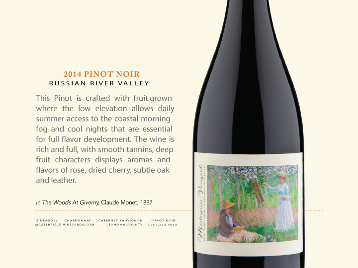 2014 MASTERPIECE VINEYARDS RUSSIAN RIVER VALLEY PINOT NOIR