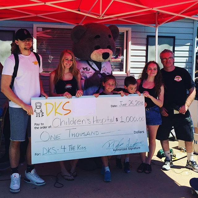 DKS Donating $1,000 to Children's Hospital at SkateFest 2016