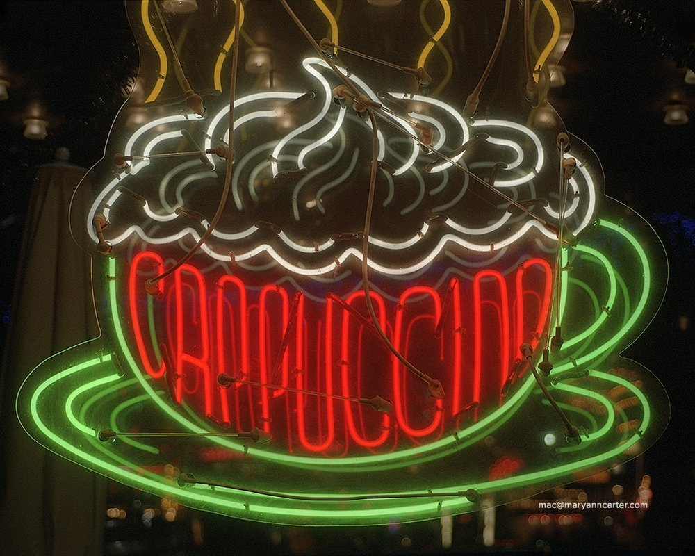 Italy Cappuccino Sign