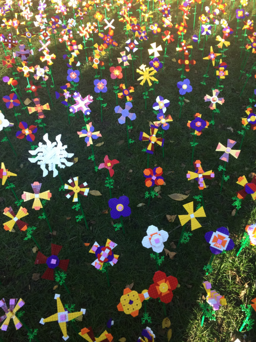 Lego Flowers at Madison Square Park, October 2014