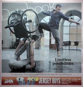 dancers sebastian & Joel on frontpage datebook