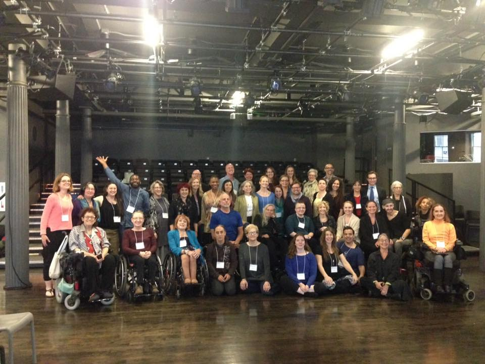 Group photo taken at National Convening on the Future of Integrated Dance in the US.