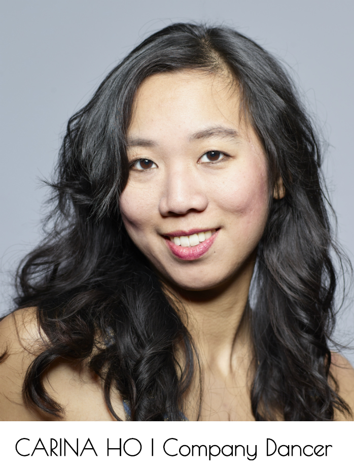 Carina Ho, Company Dancer, looks into the camera. Her head and shoulders are visible.