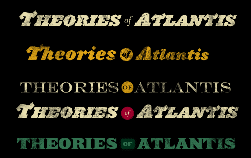 Early Header Designs for TheoriesOfAtlantis.com