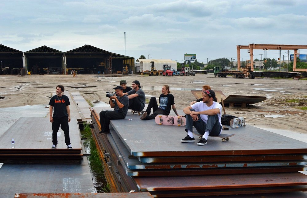 The Mixtape Squad chillin in the industrial wastelands of Tampa