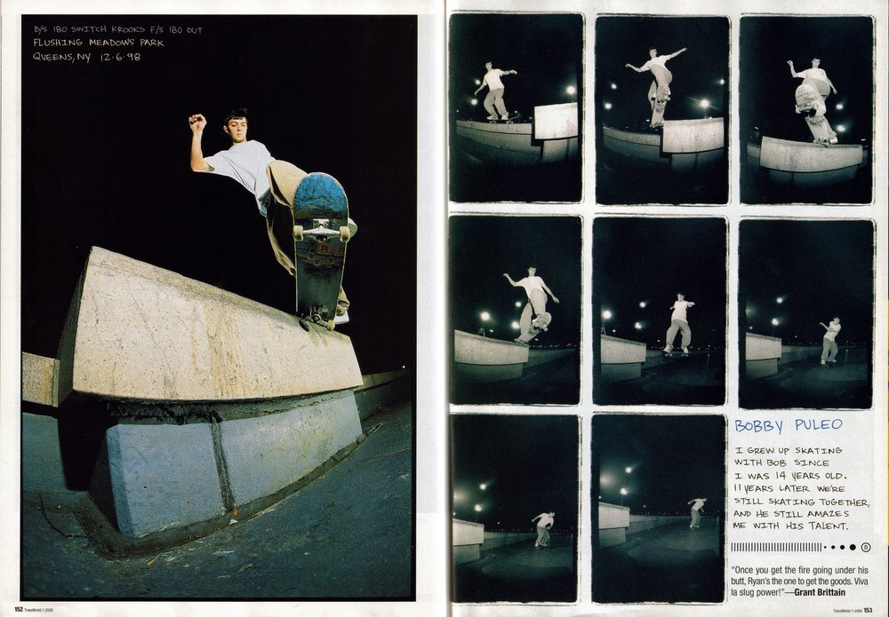 Bobby Puleo, b/s 180 switch crooks, f/s half cab out. Lifted from the Chrome Ball Incident.