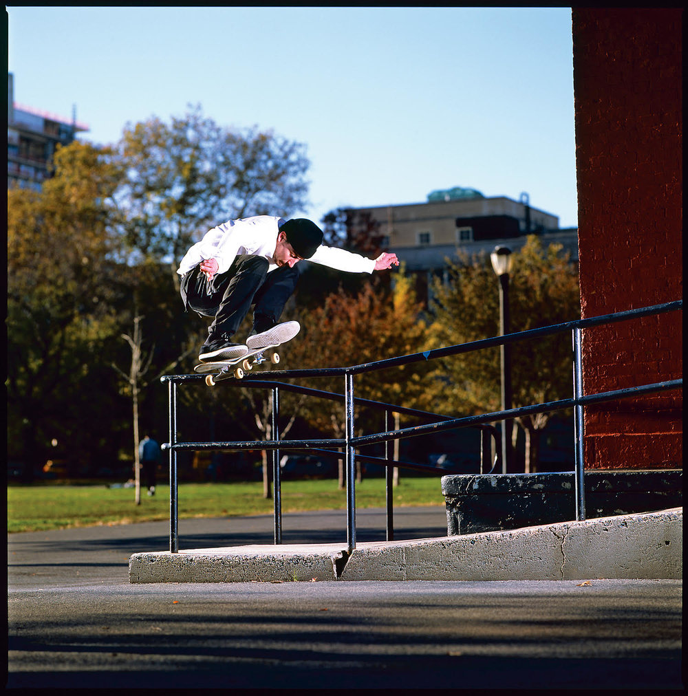 Brendan Carroll, switch ollie. Photo: Graham Tait