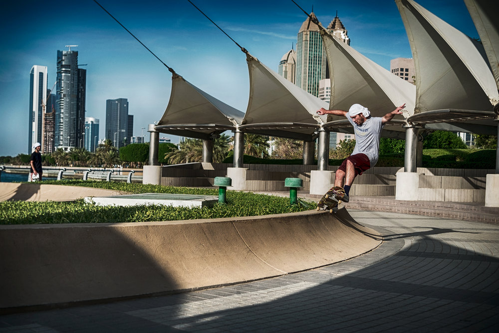 Josh 5-0's in Dubai. Photo Dave Manaud