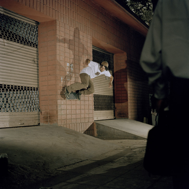 Wallride in Delhi, India. Photo by Josh Stewart