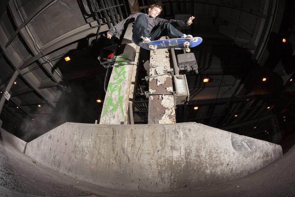 Brett Weinstein: Ollie over to 50-50 down / Photo: Josh Stewart